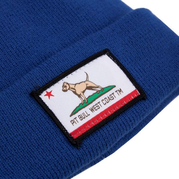 Czapka Pit Bull Beanie CALIFORNIA DOG Niebieska