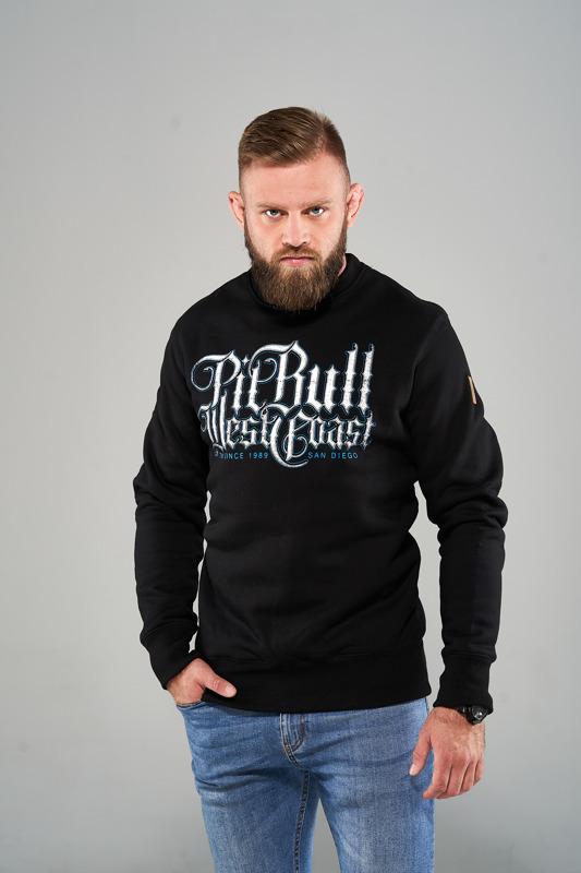 Pit Bull Bluza bez kaptura SKULL DOG 18 Czarna