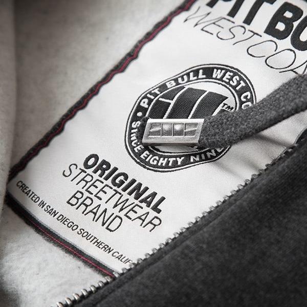 Pit Bull Bluza rozpinana z kapturem ATHLETIC Czarna