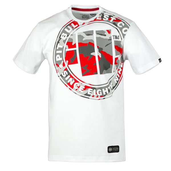 Pit Bull Koszulka URBAN CAMO Biała
