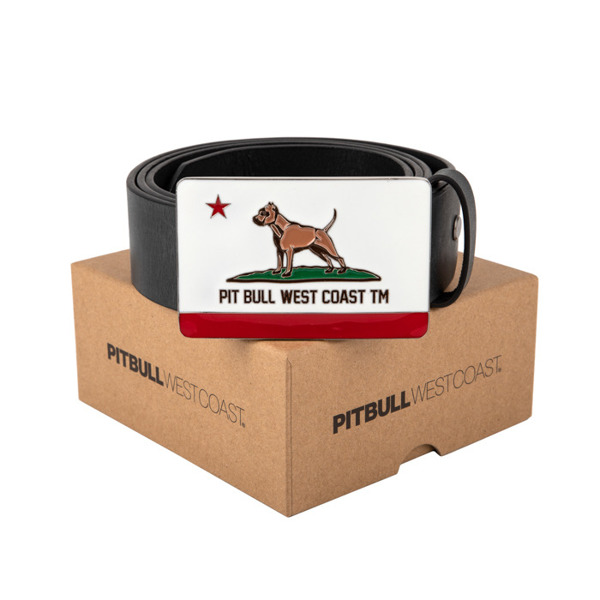 Pit Bull Pasek Skórzany CALIFORNIA DOG Brązowy