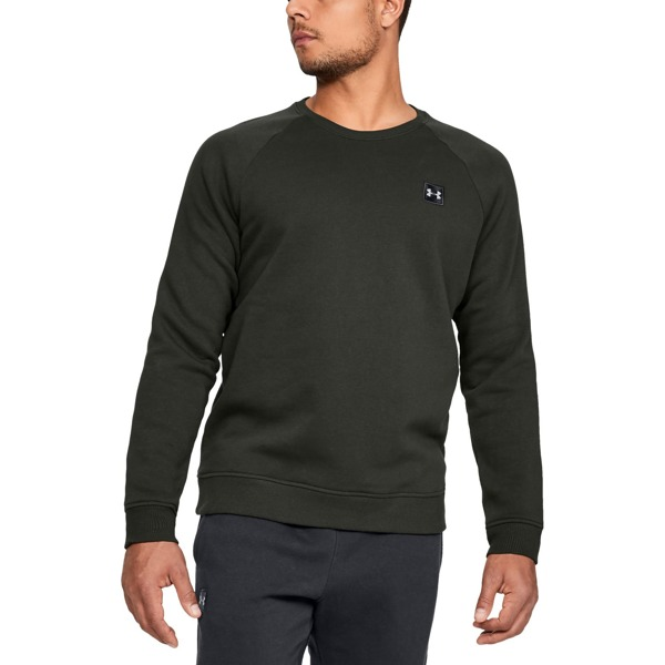 Under Armour Bluza RIVAL FLEECE CREW Zielona