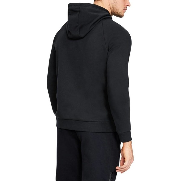 Under Armour Bluza z kapturem RIVAL FLEECE SCRIPT HOODY Czarna
