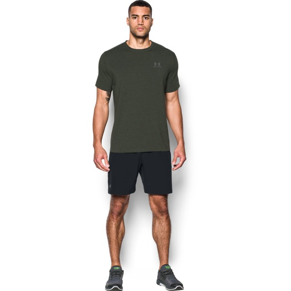 Under Armour Koszulka CC LEFT CHEST LOCKUP Zielona