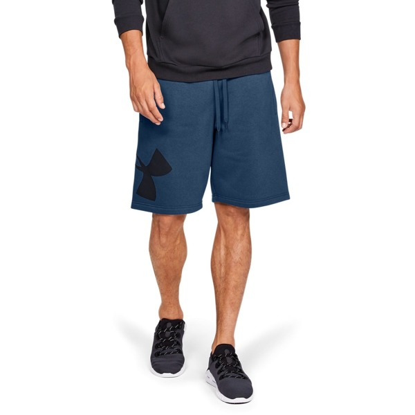 Under Armour Spodenki RIVAL FLEECE LOGO SWEATSHORT Granatowe